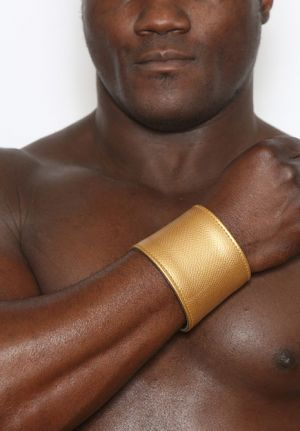 Roman Gold Leather Bracelet