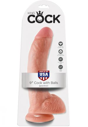 King Cock 8'' Dildo with Balls