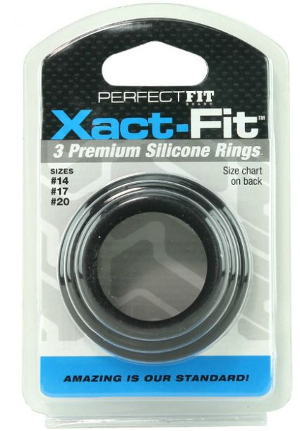 3PK Xact-Fit Premium Silicone Rings-Varied