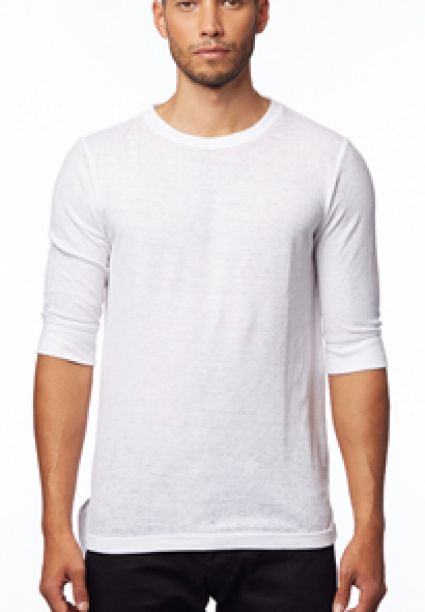 Burnout 3/4 Sleeve Thermal White