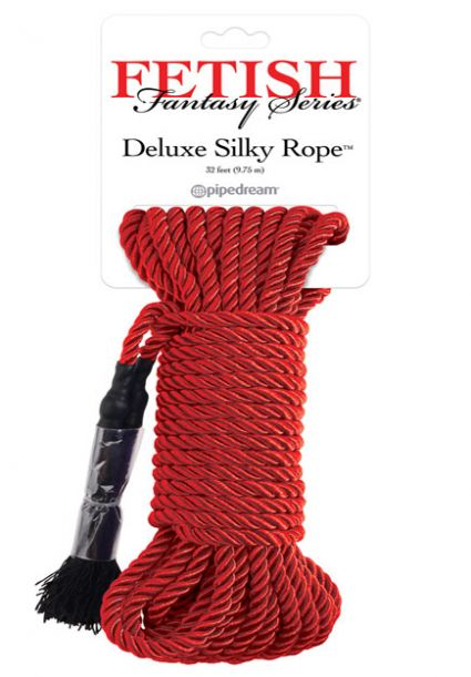 Deluxe Silky Bondage Rope 32' Red