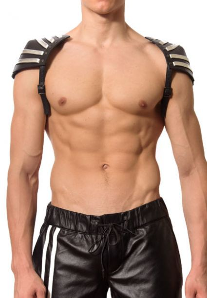 Silver Leather Invader Half Harness