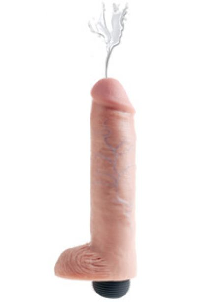 King Cock 10'' Squirting Dildo with Balls