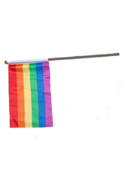 4'' x 6'' Gay Pride Flag on Stick
